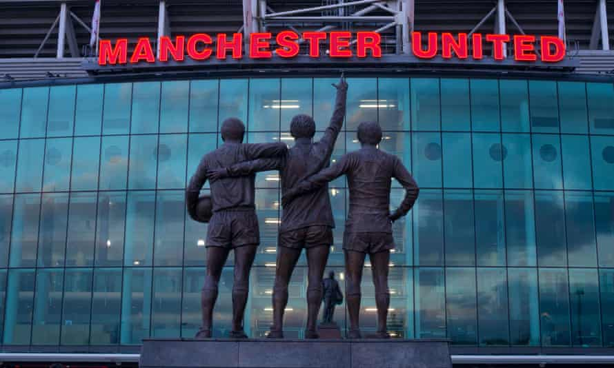 Manchester United football stadium, Old Trafford, Greater Manchester, England.