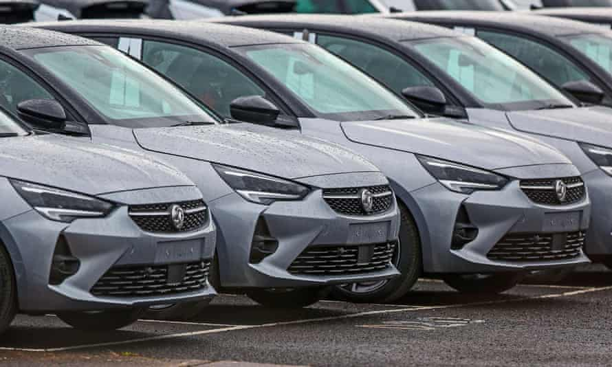 New vehicles last month at the Ellesmere Port car plant