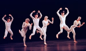 A scene from Le Sacre du Printemps by Paul Taylor Dance Company at Sadler's Wells, London, in 2000.