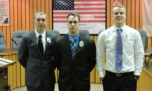Weirton police officer Stephen Mader, center
