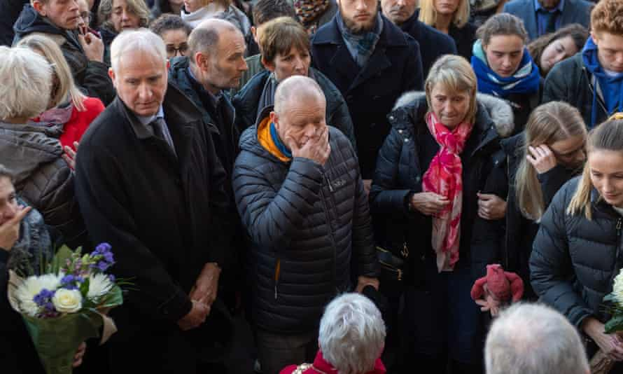 David Merritt (centre) at a vigil in Cambridge earlier this week.