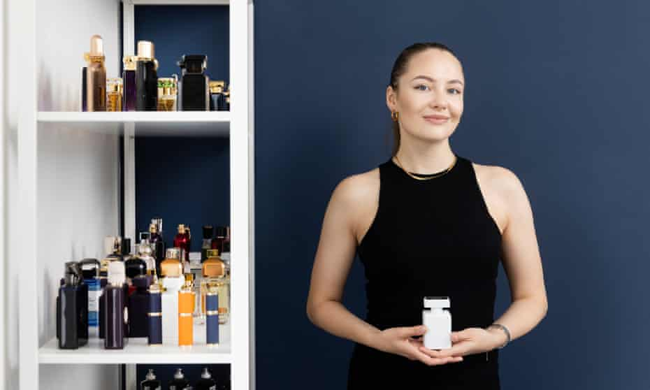Perfume expert Monika Cioch, 26, from Birmingham.