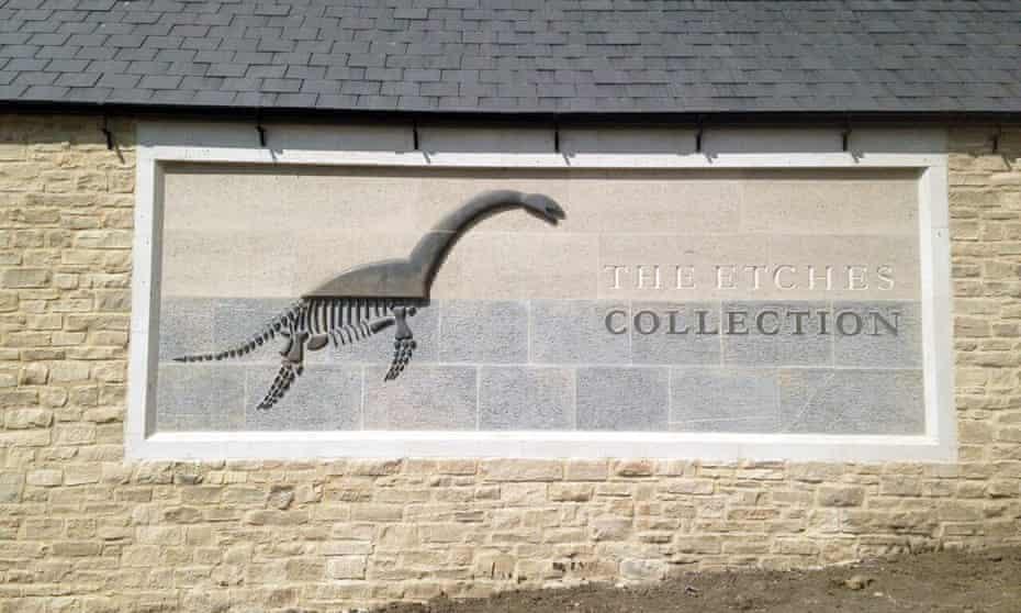 Exterior of the Museum of Jurassic Marine Life.