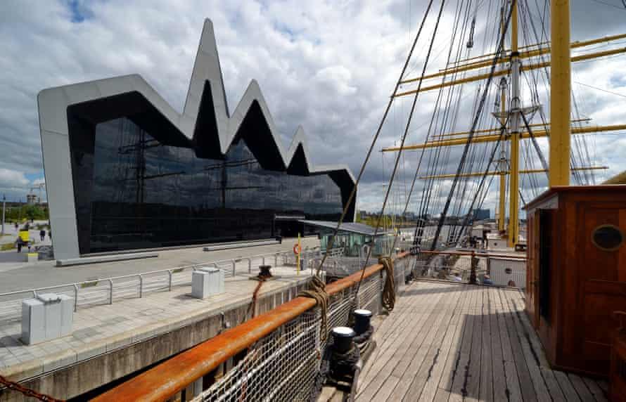 Zaha Hadid's Riverside Museum in Glasgow.