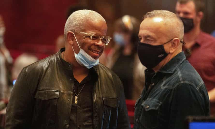 Terence Blanchard talks with co-director James Robinson at intermission