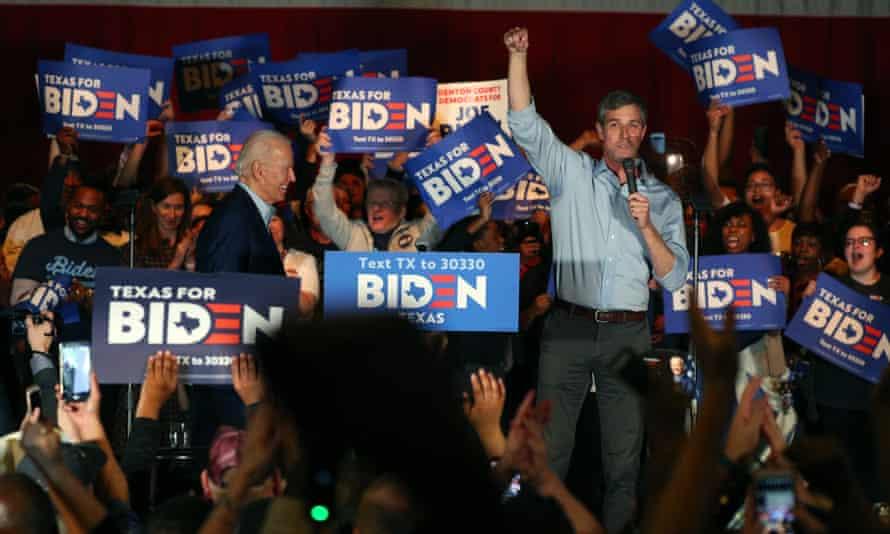 Beto O'Rourke endorses Biden.