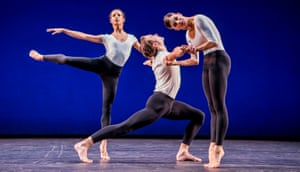 Francesca Hayward, Matthew Ball and Mayara Magri in Cross Currents by Merce Cunningham.