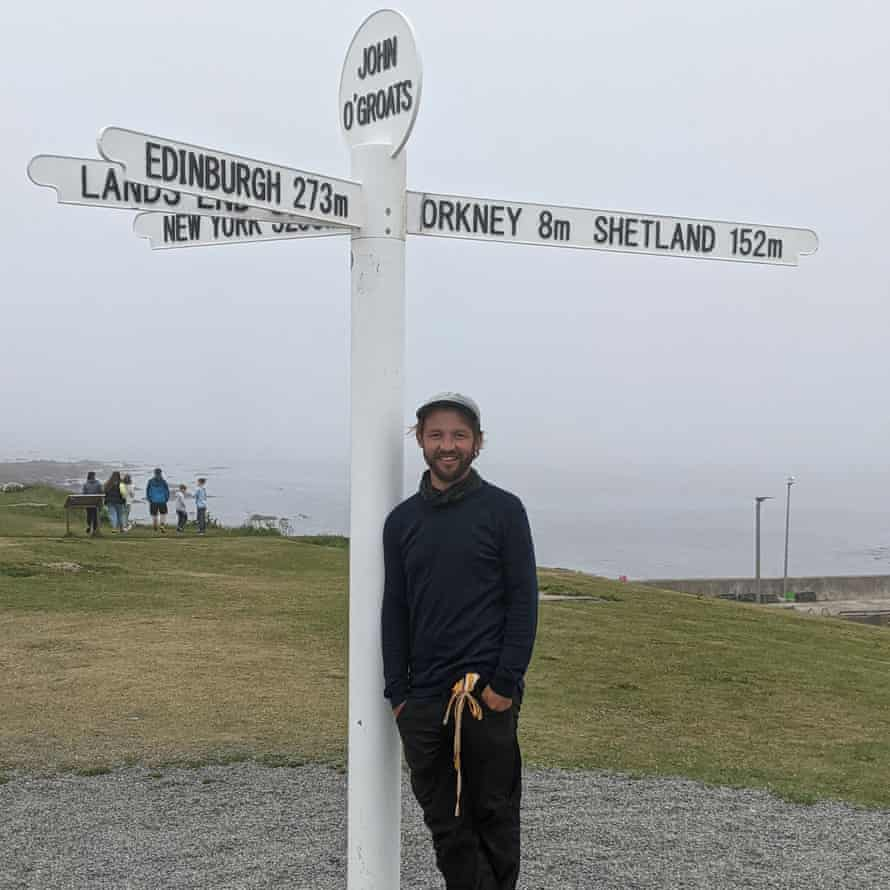 Journey's end at John o'Groats
