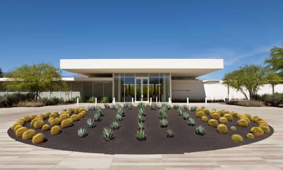 Entrance to Sunnylands visitor centre, Rancho Mirage, California, USA.
