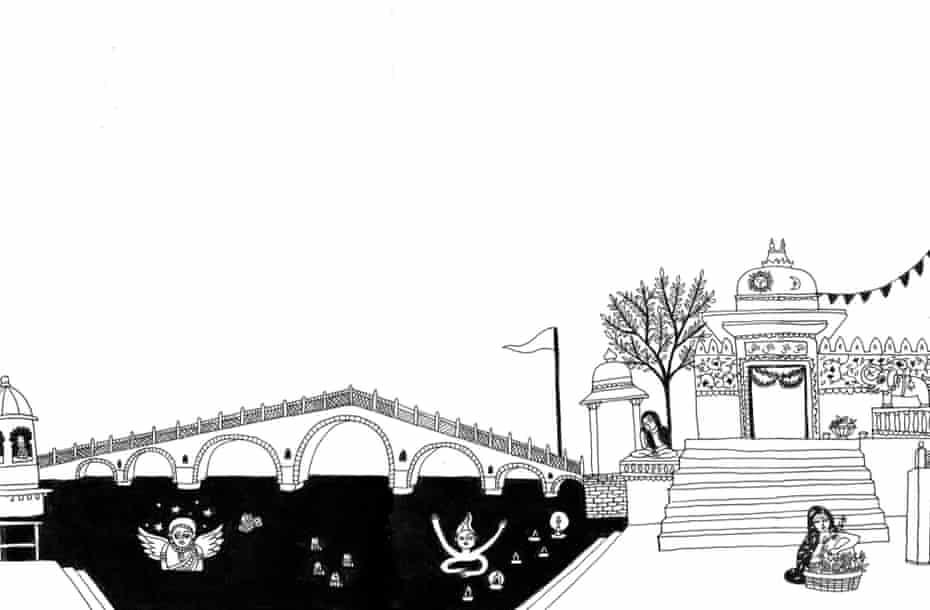Lake City: the bridge and the temple