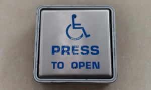 A disabled door button