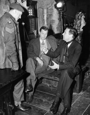 Trevor Howard (Major Calloway), Joseph Cotten (Holly Martins) and Carol Reed (director)