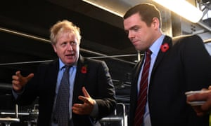 Douglas Ross (R) with Boris Johnson during an election campaign visit in north-east Scotland last November.