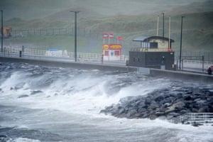 Ophelia batters the Atlantic coast of Ireland in Lahinch