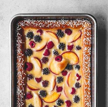 Edd Kimber's creme fraiche brioche fruit tart.