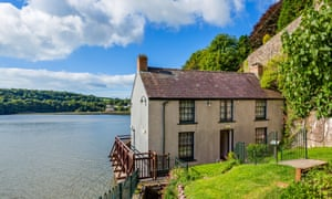 The Dylan Thomas Boathouse in Laugharne, Wales.