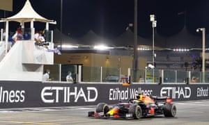 Verstappen crosses the line to win