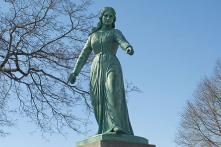 The Hannah Duston statue in Haverhill, Massachusetts. Another stands in Boscawen, New Hampshire.