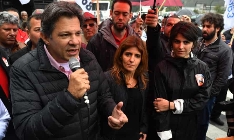 Fernando Haddad is running to be vice-president under the incarcerated former president Lula. He is expected to soon take over as a presidential candidate.