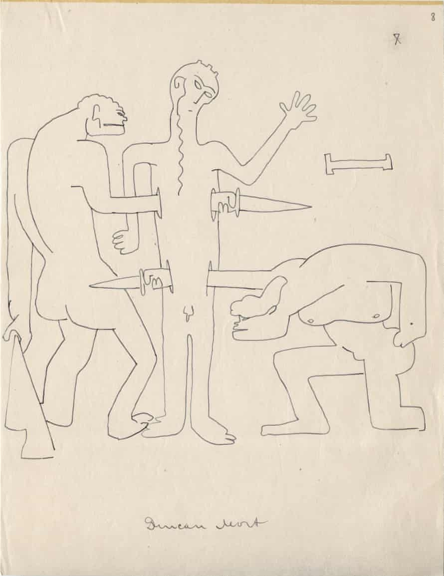 Drawing from the series Death of Duncan by Sergei Eisenstein, 1931. Ink on paper.
