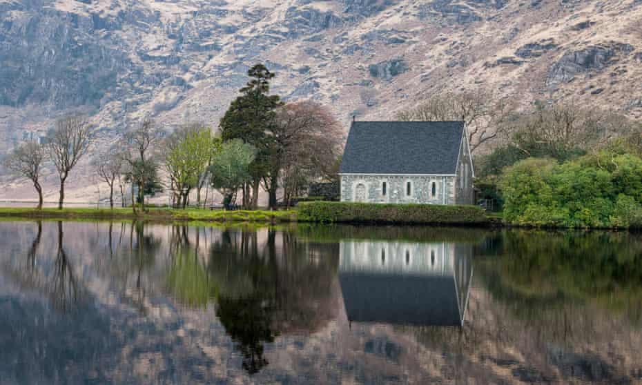 St. Finbarr's Oratory, by Gougane Barra lake, County Cork.