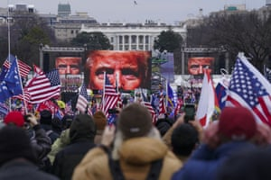 Trump supporters participate in a rally Wednesday, Jan. 6, 2021 in Washington. As Congress prepares to affirm President-elect Joe Biden's victory, thousands of people have gathered to show their support for President Donald Trump and his baseless claims of election fraud. The president is expected to address a rally on the Ellipse, just south of the White House