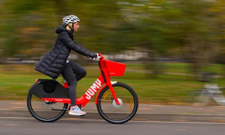 A Jump e-bike ridden in London