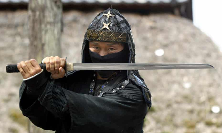 A ninjutsu master poses in Iga-Ueno, home to one of Japan's best-known ninja clans