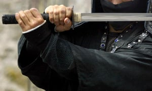 The man said he will try to acquire a samurai sword.