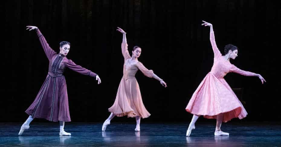 Itziar Mendizabal, Marianela Nuñez and Yasmine Naghdi in the Royal Ballet's Winter Dreams.