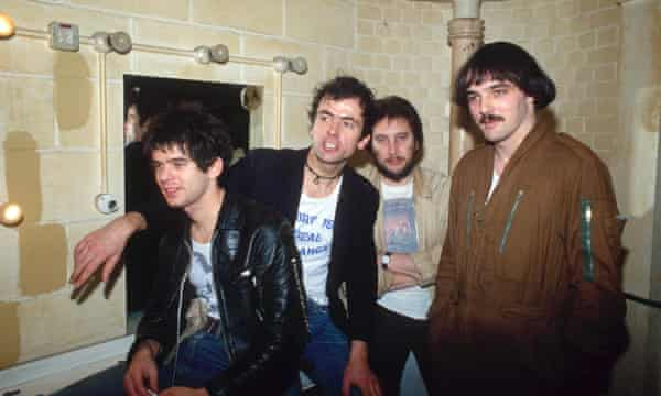 'Bless him' … Greenfield on right with the band in 1978.