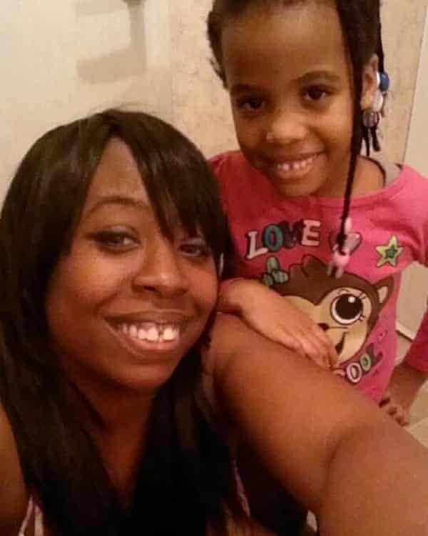Redel Jones with her daughter, Sicare.