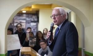 Democratic presidential candidate Bernie Sanders in Chicago