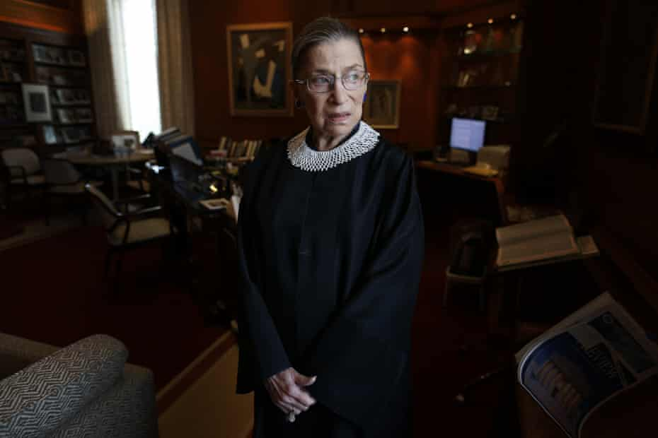 Ruth Bader Ginsburg seen in her chambers at the supreme court in Washington in 2013.