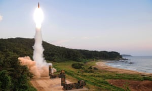 South Korean military fires a ballistic missile yesterday