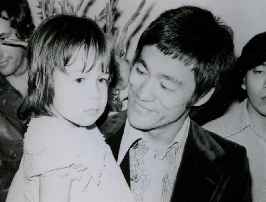 Shannon Lee and her father, Bruce Lee, who died when she was four.