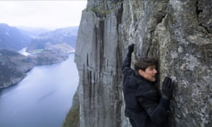 Tom Cruise as Ethan Hunt in Mission: Impossible – Fallout. He broke his ankle while making the film.