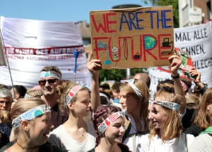 A student climate protest in Aachen, Germany