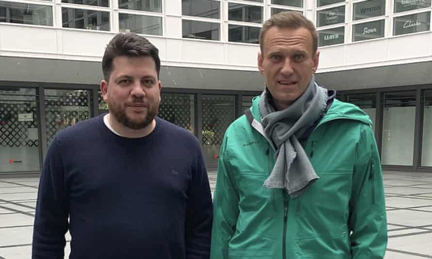 Leonid Volkov and Alexei Navalny