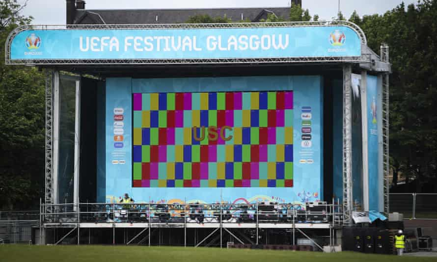 The fan zone at Glasgow Green