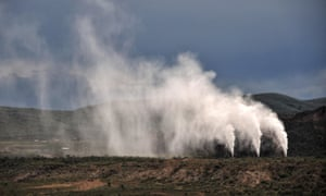 The geothermal power area in Naivasha, Kenya, October 2014