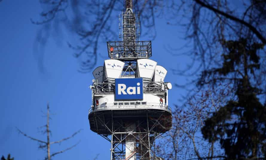 Rai tower is pictured in Eastern Milano
