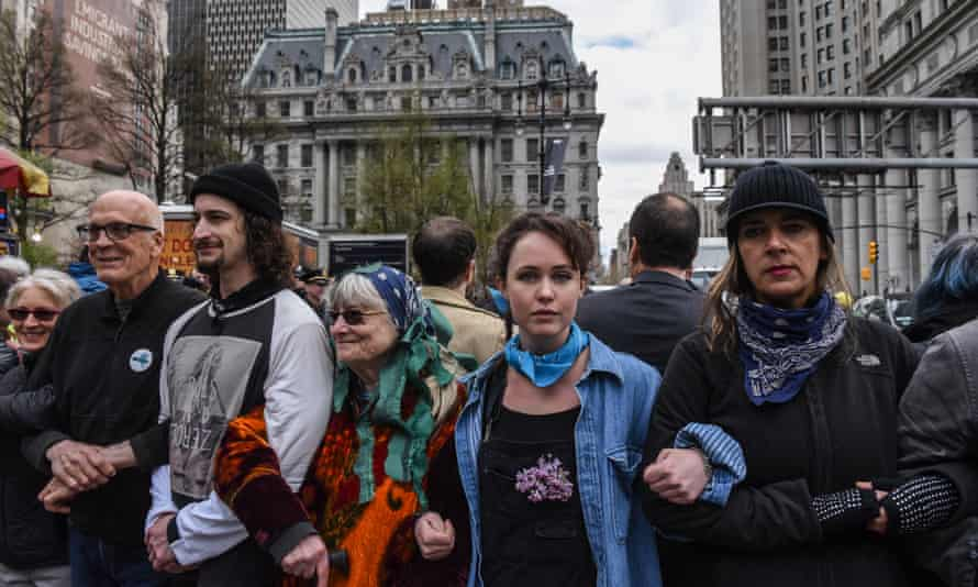 The Extinction Rebellion protest in New York on 17 April.