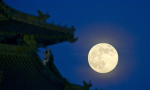 THe moon over Beijing, China