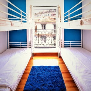 Dorm at We Love F Tourists, Lisbon, which won best hostel for solo female travellers