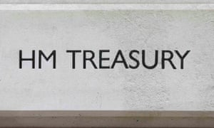 The HM Treasury name is seen painted on the outside of Britain's Treasury building in central London, Britain November 25, 2015. British finance minister George Osborne will set out on Wednesday his plans for deep spending cuts in many areas of the government and in welfare as he seeks to turn the country's big budget deficit into a surplus by the end of the decade. REUTERS/Suzanne Plunkett