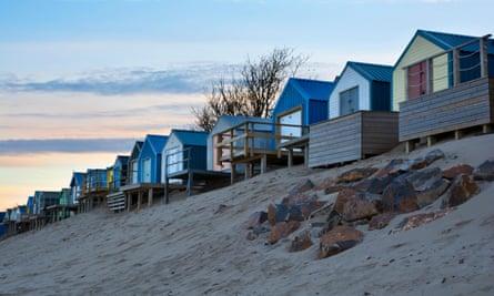 Beach huts on Abersoch beach