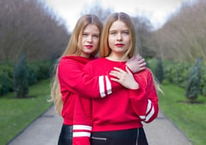 Violeta and Irina, twins photographed by Peter Zelewski