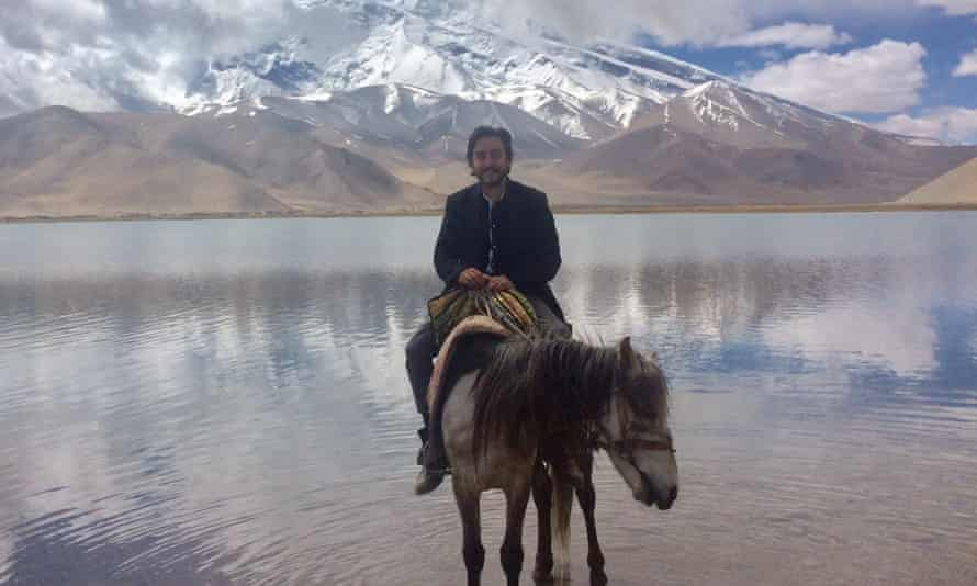 Bruno Macaes at the border of China and Pakistan, through which the Belt and Road will run.