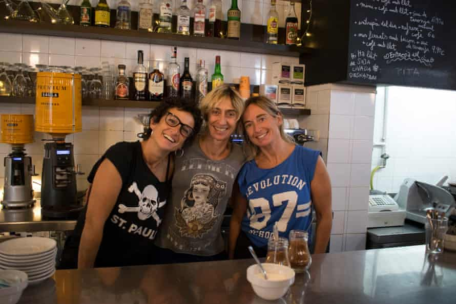 The Esteve sisters, Cristina, Gloria and Gemma, who run Bar Cervantes, which has survived by not changing at all.
